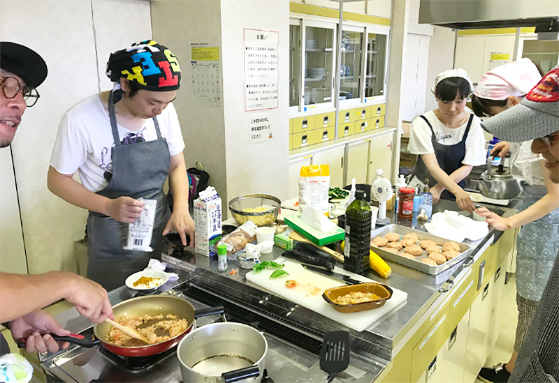 第1回料育ワークショップの料理風景