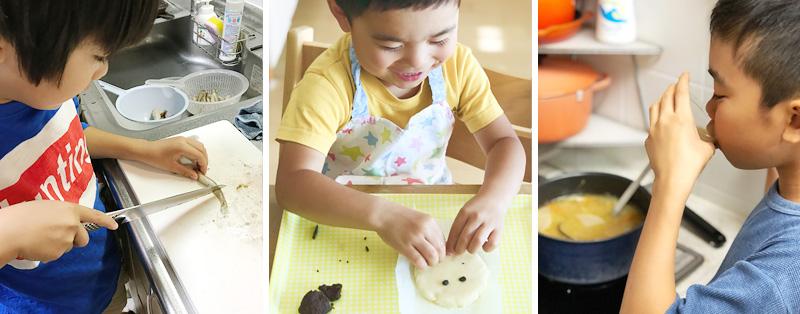 子供達の料理シーン